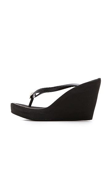 Juicy Couture Britt Wedge Flip Flops