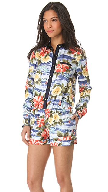 Juicy Couture Maui Floral Romper