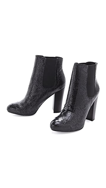 Juicy Couture Roxanna Snake Print Booties