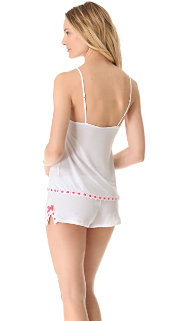 Juicy Couture Ribbonslot Jersey Camisole