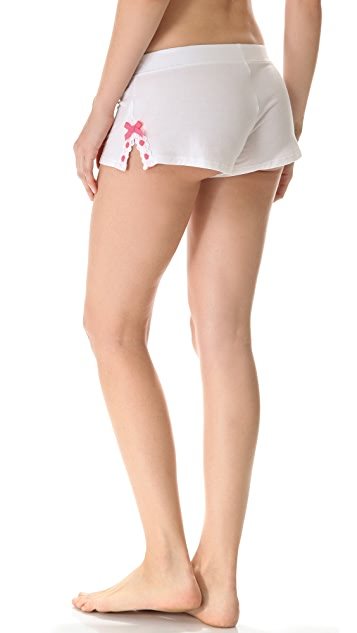 Juicy Couture Ribbonslot Jersey Shorts