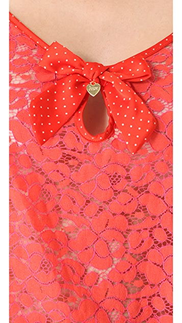 Juicy Couture Valentine's Two Tone Lace Camisole