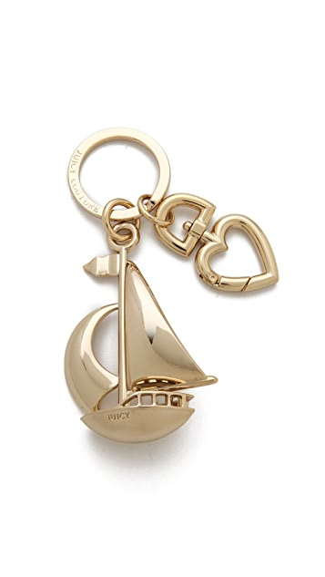 Juicy Couture Sailboat Keychain