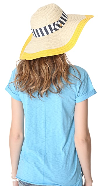 Juicy Couture Wide Brim Straw Sunhat