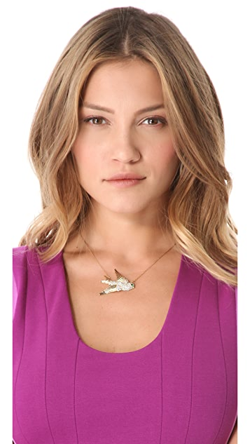 Juicy Couture Pave Bird Necklace