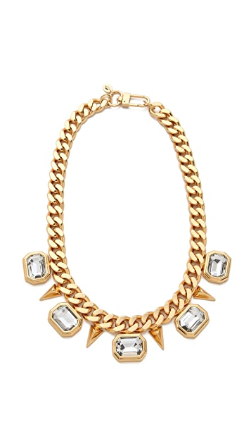 Juicy Couture Rectangular Stone Necklace