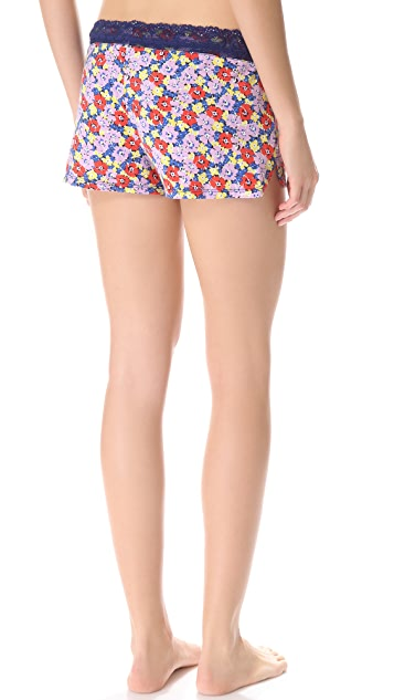Juicy Couture Riviera Pansy Print Shorts