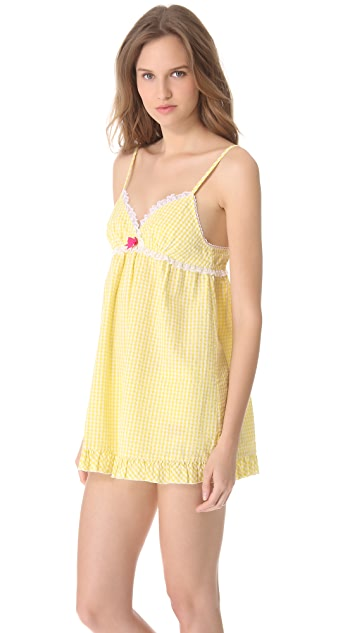Juicy Couture Amour Pinup Gingham Babydoll