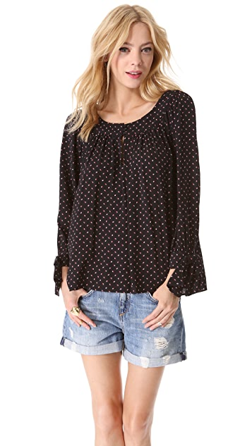 Juicy Couture Geo Swirl Crepe Top