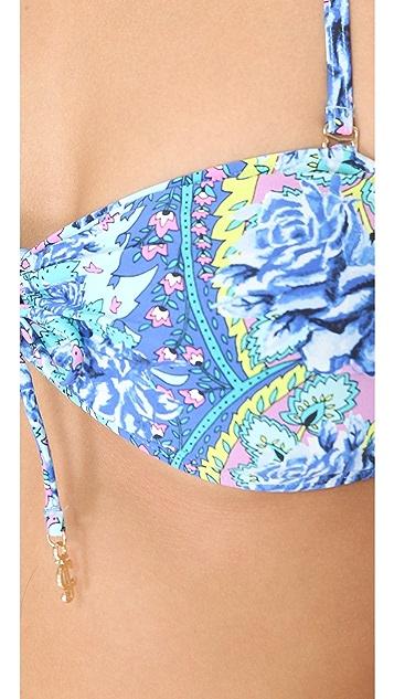 Juicy Couture Paisley Park Bandeau Bikini Top