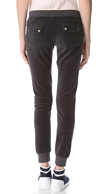Juicy Couture Slim Velour Pants