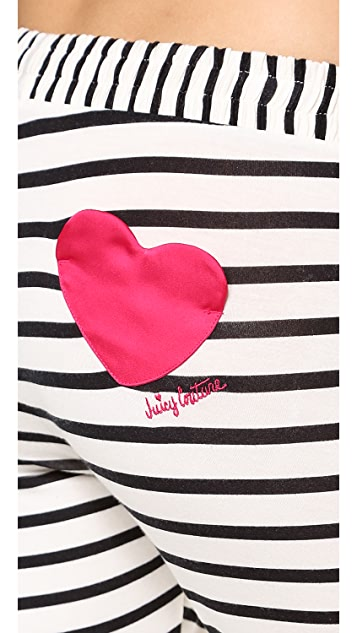 Juicy Couture Stripe Modal Pants