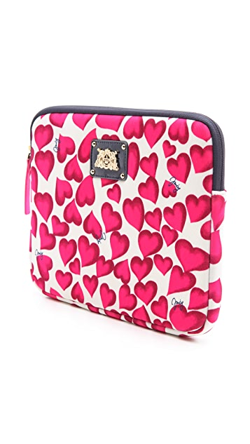 Juicy Couture Darling Hearts iPad Zip Around Case