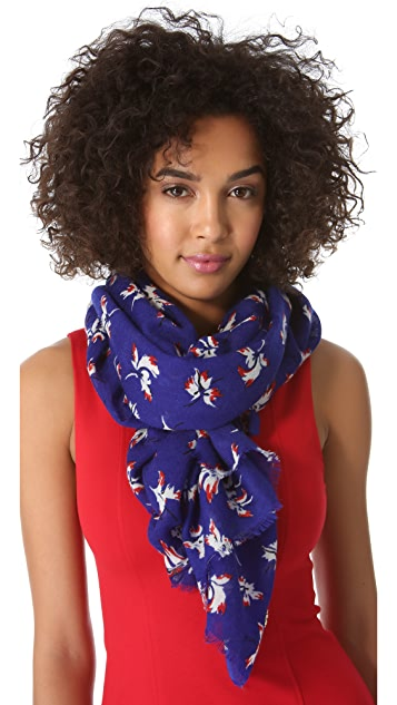 Juicy Couture Feathered Iris Scarf
