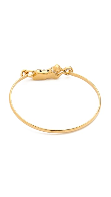 Juicy Couture Skinny Gold Panther Bangle