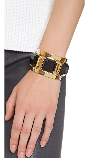 Juicy Couture Black Triple Stone Cuff Bracelet