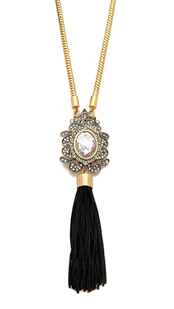 Juicy Couture Vintage Tassel Pendant Necklace