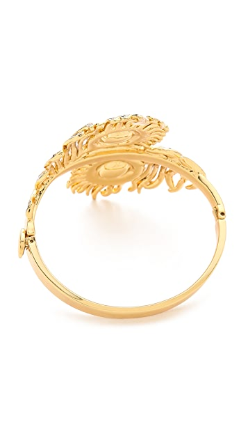 Juicy Couture Pave Feather Drama Bangle Bracelet