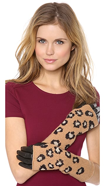 Juicy Couture Leopard Mitt Gloves