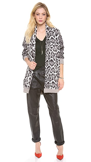 Juicy Couture Wild Lynx Jacquard Cardigan
