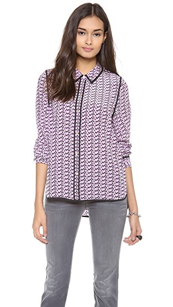Juicy Couture Joni Chevron Print Blouse