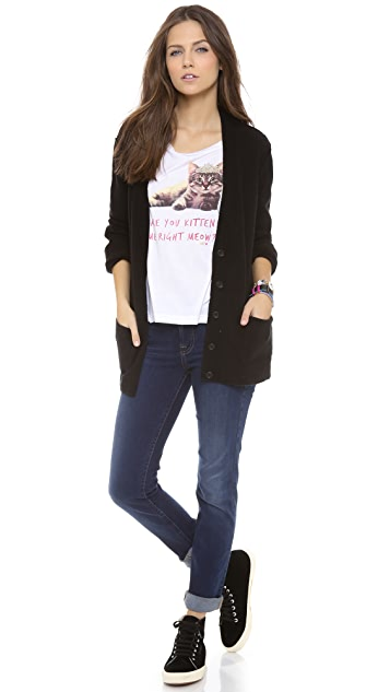Juicy Couture Kitten Boat Neck Tee