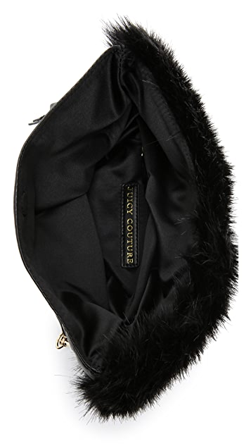 Juicy Couture Hollywood Hills Faux Fur Clutch
