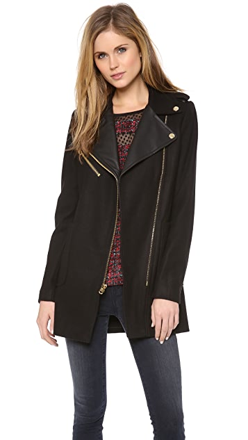 Juicy Couture Wool Melton Moto Coat