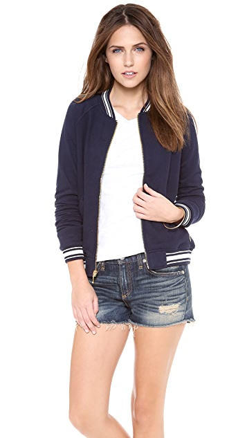 Juicy Couture Racer Rib Bomber Jacket