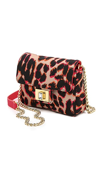 Juicy Couture Rosewood Mini G Leopard Print Bag