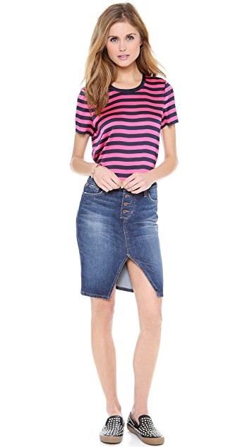 Juicy Couture Carnaby Stripe Zip Tee