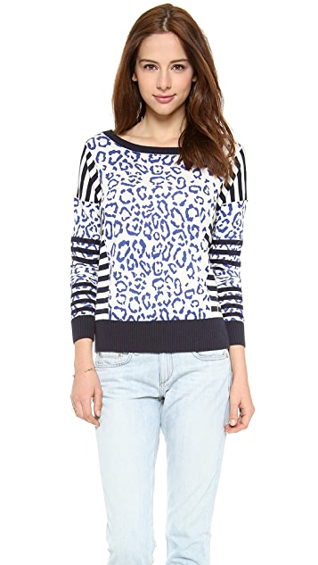 Juicy Couture Stripey Leopard Pullover