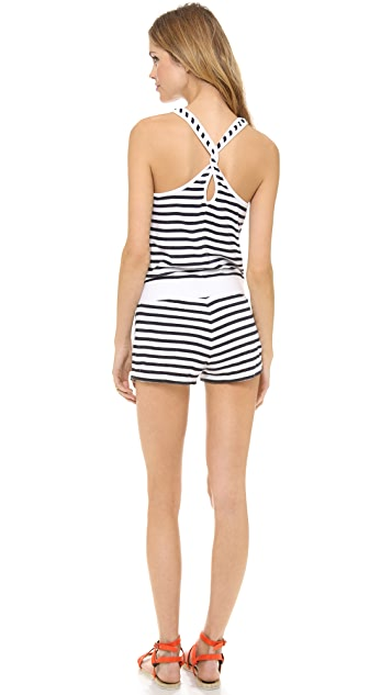 Juicy Couture Terry Stripe Romper