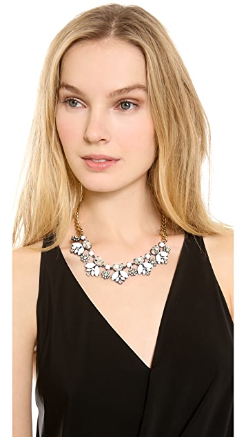 Juicy Couture Brillant Blooms Crystal and Stone Necklace
