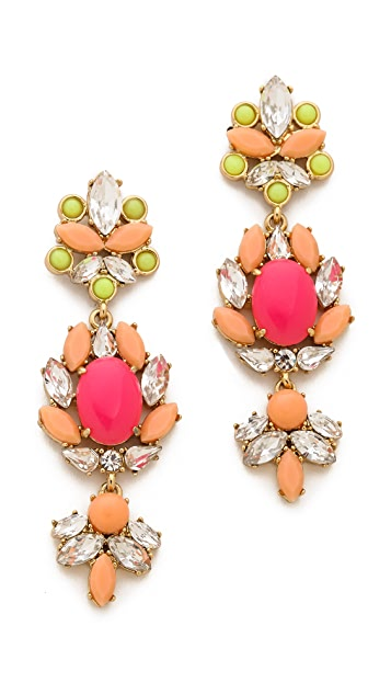 Juicy Couture Haute Hue Gemstone Chandelier Earrings