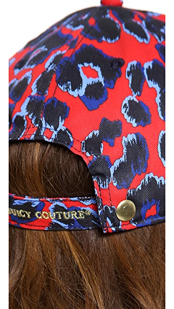 Juicy Couture Red Leopard Baseball Cap
