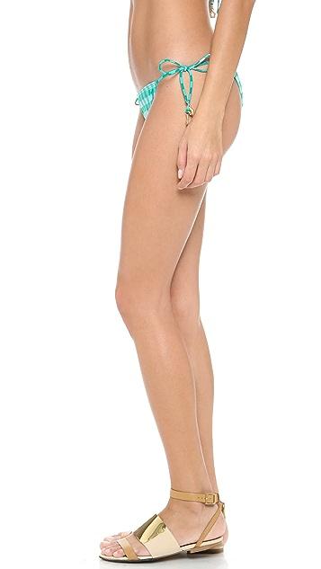 Juicy Couture Gingham Style Bikini Bottoms