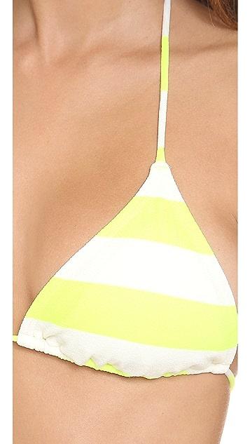 Juicy Couture Sixties Stripe Triangle Bikini Top