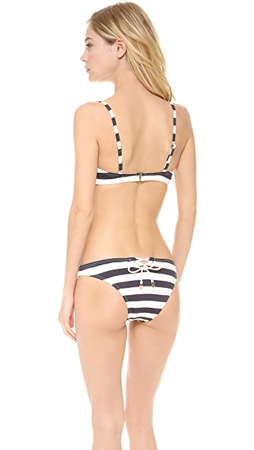 Juicy Couture Boho Striped Bikini Top