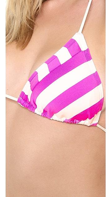 Juicy Couture Boho Stripe Triangle Bikini Top