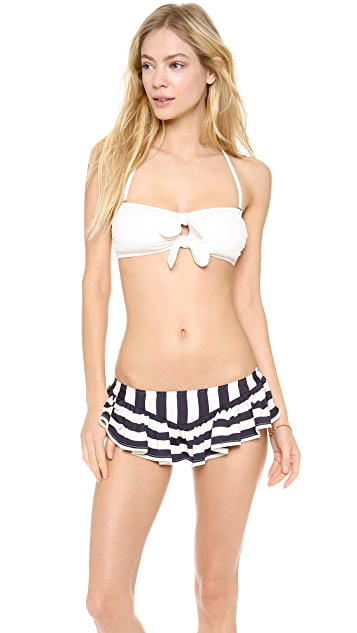 Juicy Couture Boho Stripe Skirted Bikini Bottoms