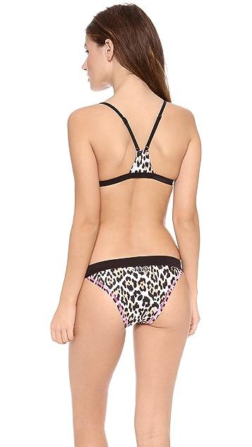 Juicy Couture Juicy Sport Wildcat Block Racer Back Bikini Top