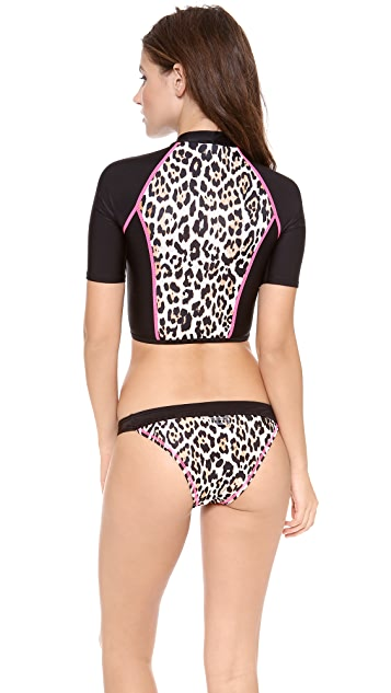 Juicy Couture Wildcat Rash Guard Top