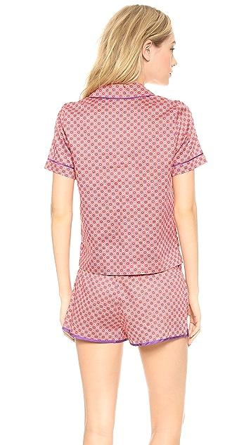 Juicy Couture Printed Sateen PJ Top