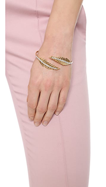 Juicy Couture Pave Feather Bangle Bracelet