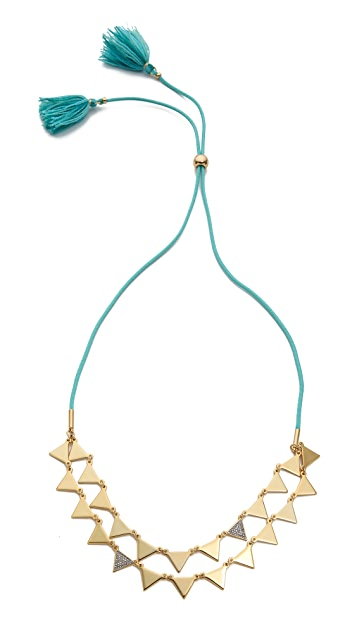 Juicy Couture Triangle Tassel Necklace