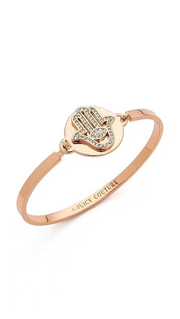 Juicy Couture Pave Hamsa Bangle Bracelet