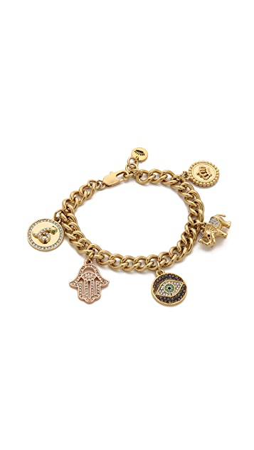 Juicy Couture Pre Assembled Gypset Charm Bracelet