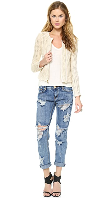 Juicy Couture Textured Knit Jacket