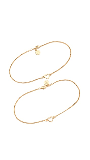 Jules Smith BFF Ankle Bracelet Set